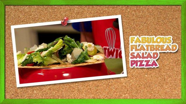 Fabulous Flatbread Salad Pizza