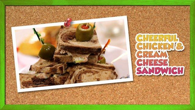 Cheerful Chicken & Cream Cheese Sandwich
