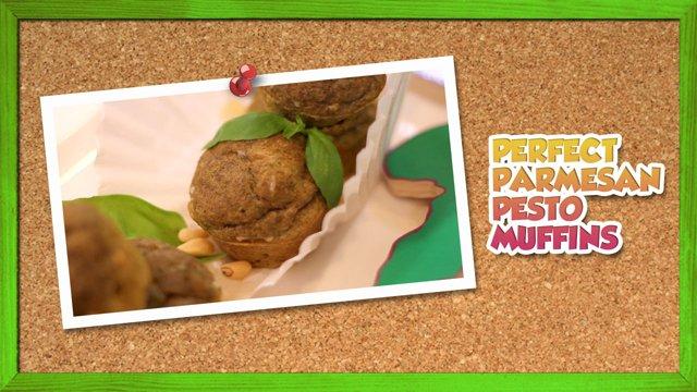 Perfect Parmesan Pesto Muffins