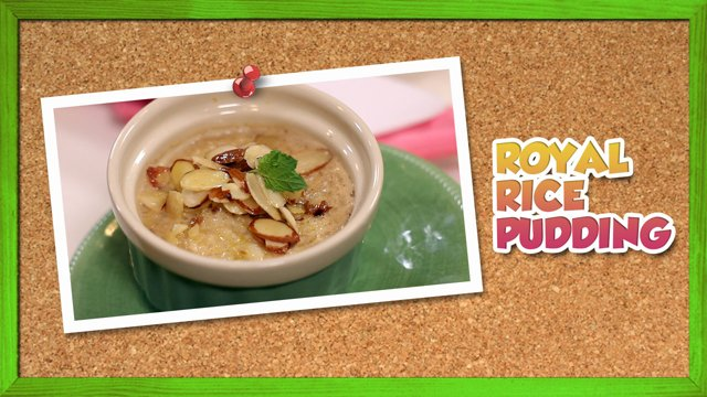 Royal Rice Pudding