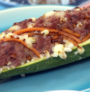 "Going Greek! - ""Stuffed Zucchini"""