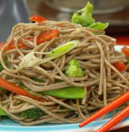 "Jetting to Japan - ""Ginger and Soba Noodle Salad"""