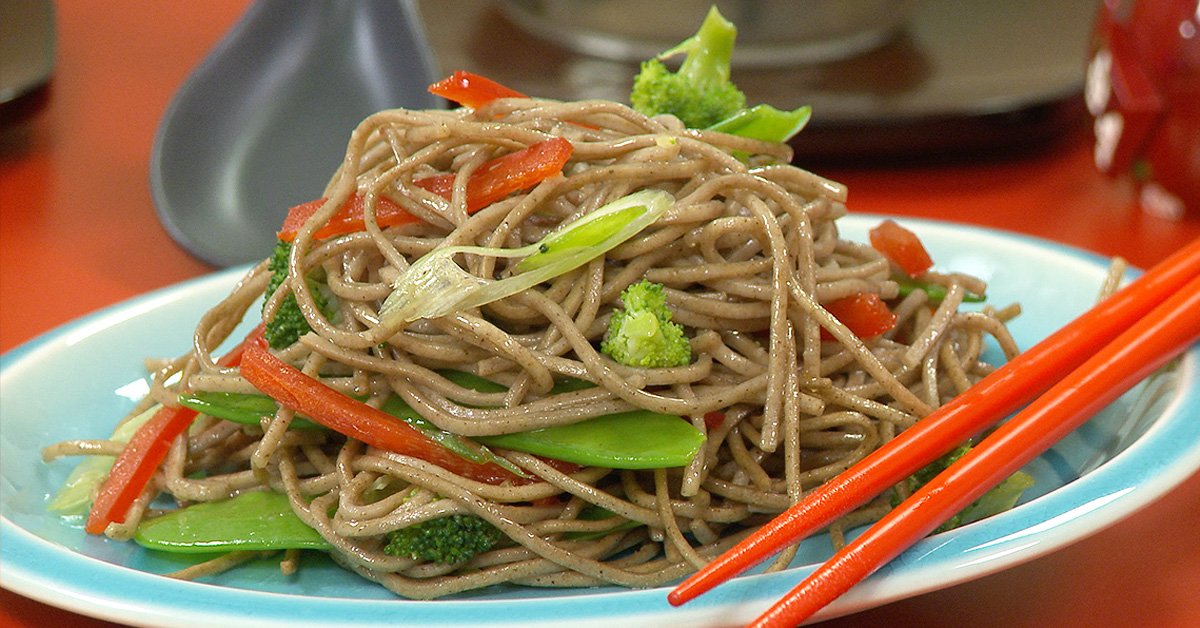 Ginger and Soba Noodle Salad - Twice as Good Show