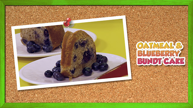 Oatmeal & Blueberry Bundt Cake