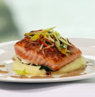 Bacon Crusted Scottish Salmon