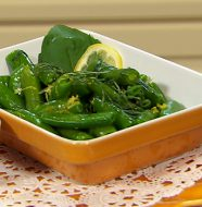 Sugary Snap Peas with Bites of Basil