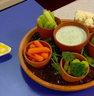 Veggies with Green Dipping Sauce