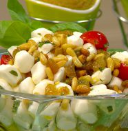 Topsy-Turvy Tomato & Mozzarella Salad