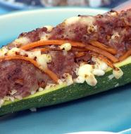 "Going Greek! - ""Stuffed Zucchini"""