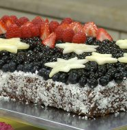 "Down Under Day! - ""Lamington Australian Flag Cake"""