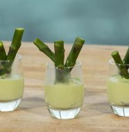 Asparagus Shooters with Chive Vinaigrette