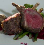 Lamb With Red Beet Puree