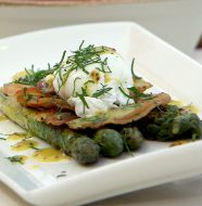Grilled Asparagus with Poached Egg